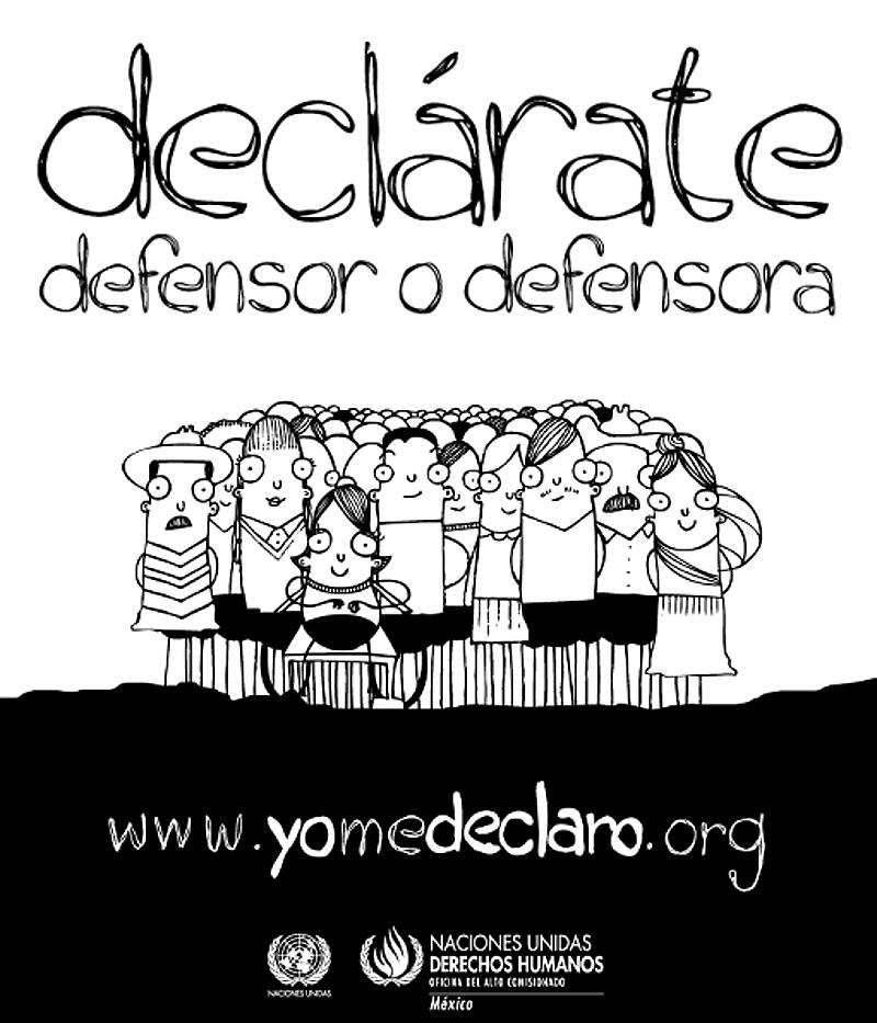 Cartel de la campaña www.yomedeclaro.org